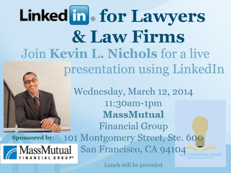LinkedIn for Lawyers Flyer